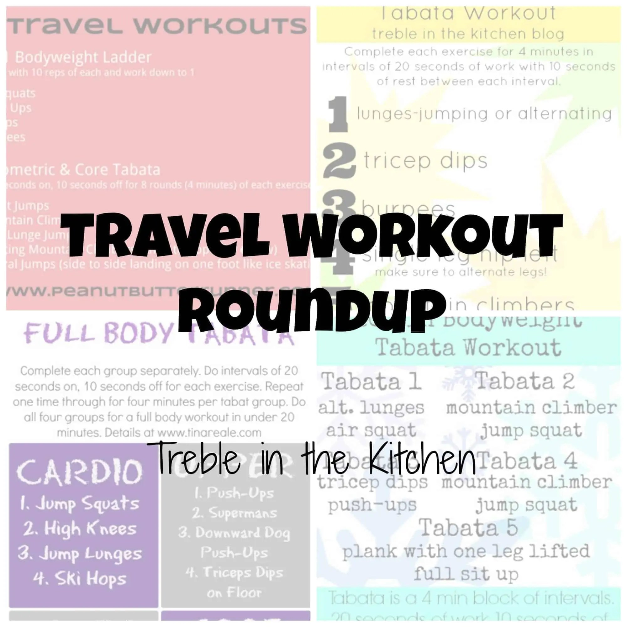 Travel Workout Roundup via Treble in the Kitchen