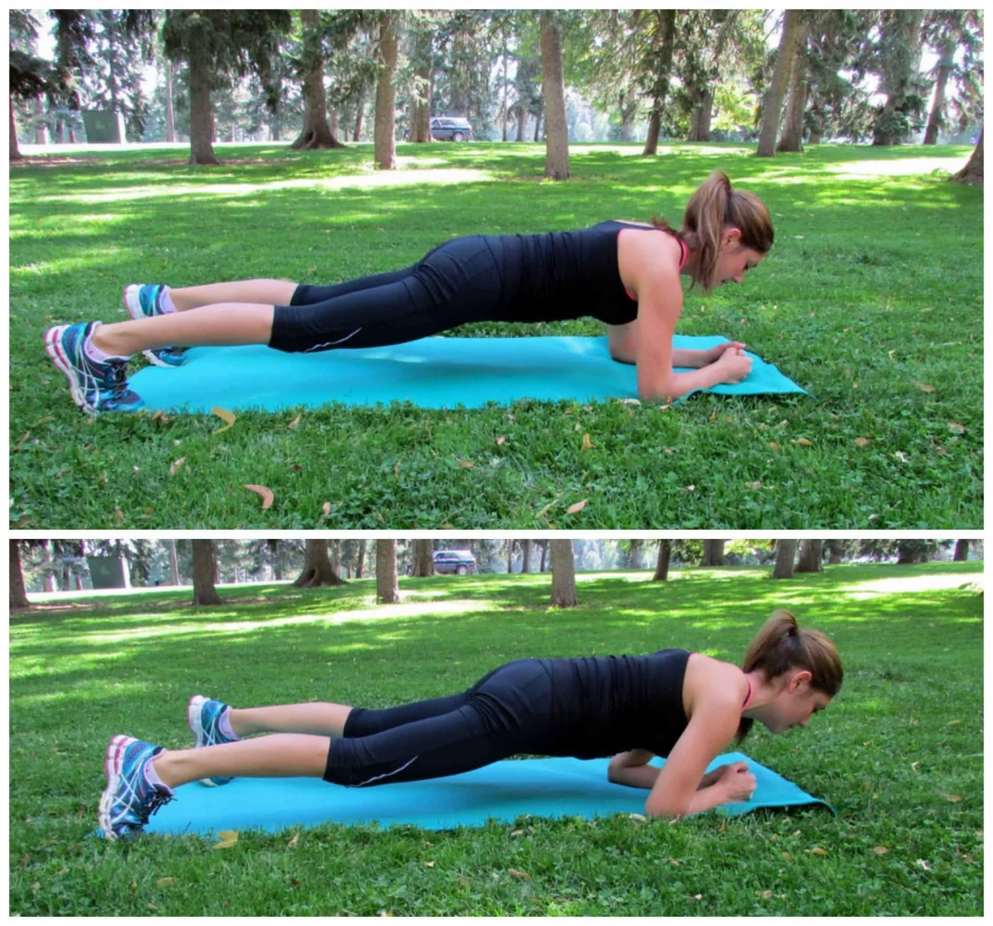 Shift forward and back plank
