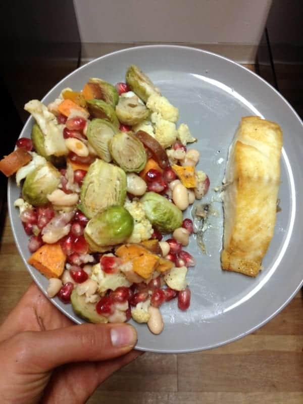 fall salad with sablefish
