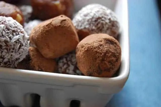 Date Truffles rolled in cocoa powder or coconut - Uproot from Oregon