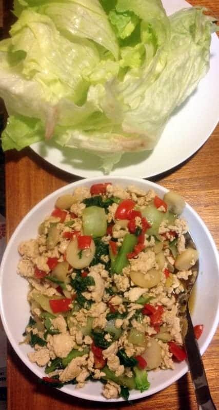 Asian Chicken Lettuce Wraps Kate Scarlata