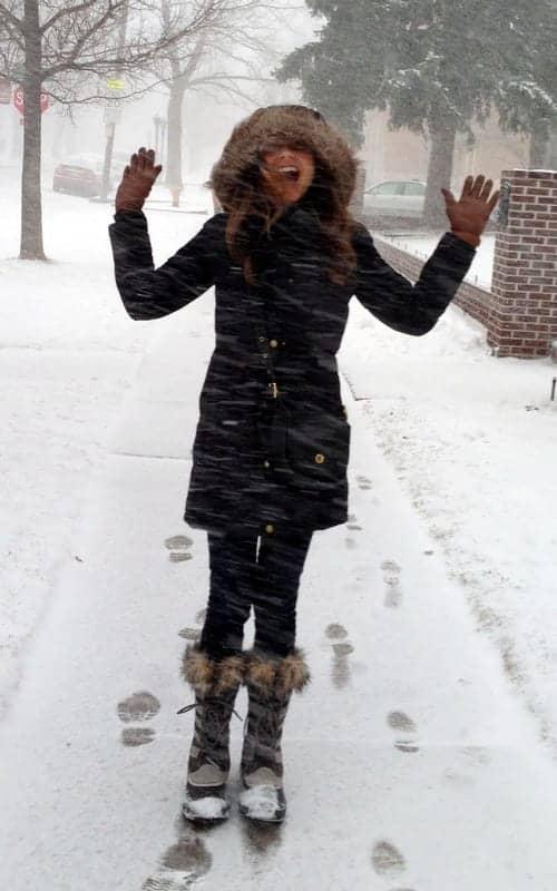 Tara in snow