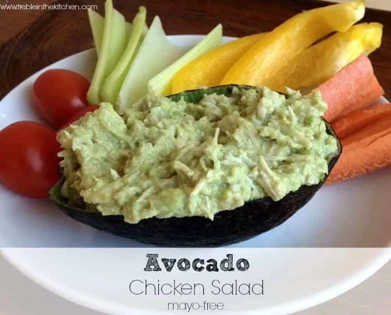 Avocado Chicken Salad via Treble in the Kitchen