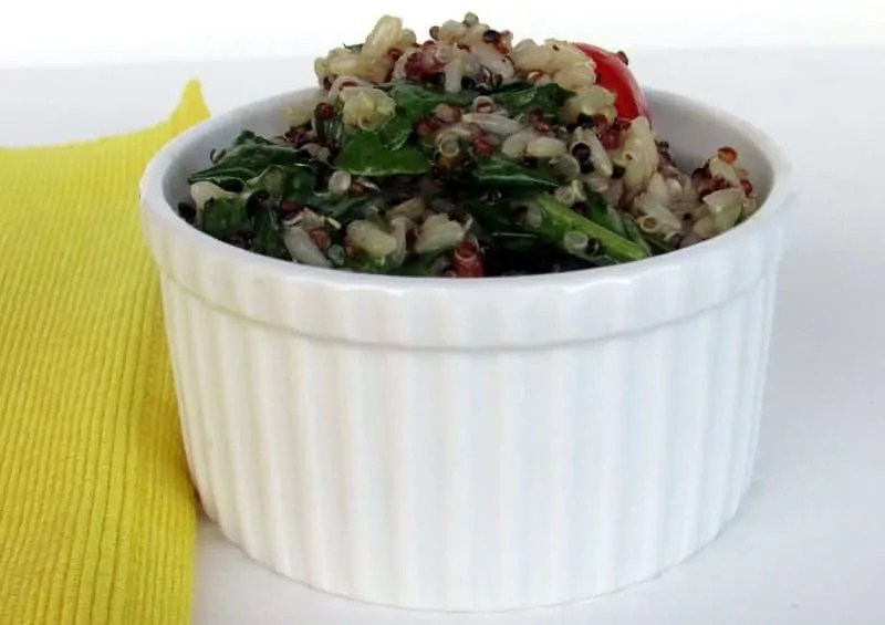 Sprouted rice and quinoa salad via treble in the kitchen