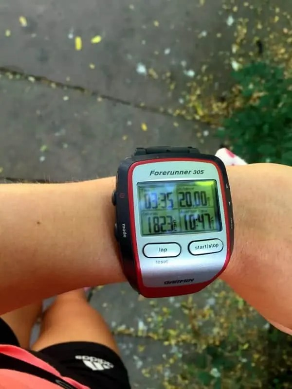 20 mile run