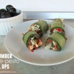 Cucumber Olive-Pesto Roll Ups