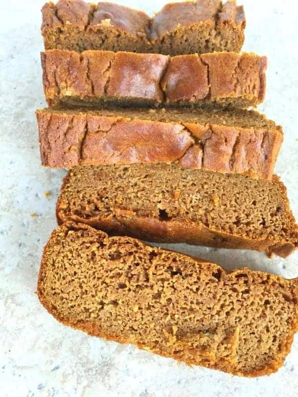 Grain Free Pumpkin Bread from Treble in the Kitchen #lowFODMAP #paleo #glutenfree