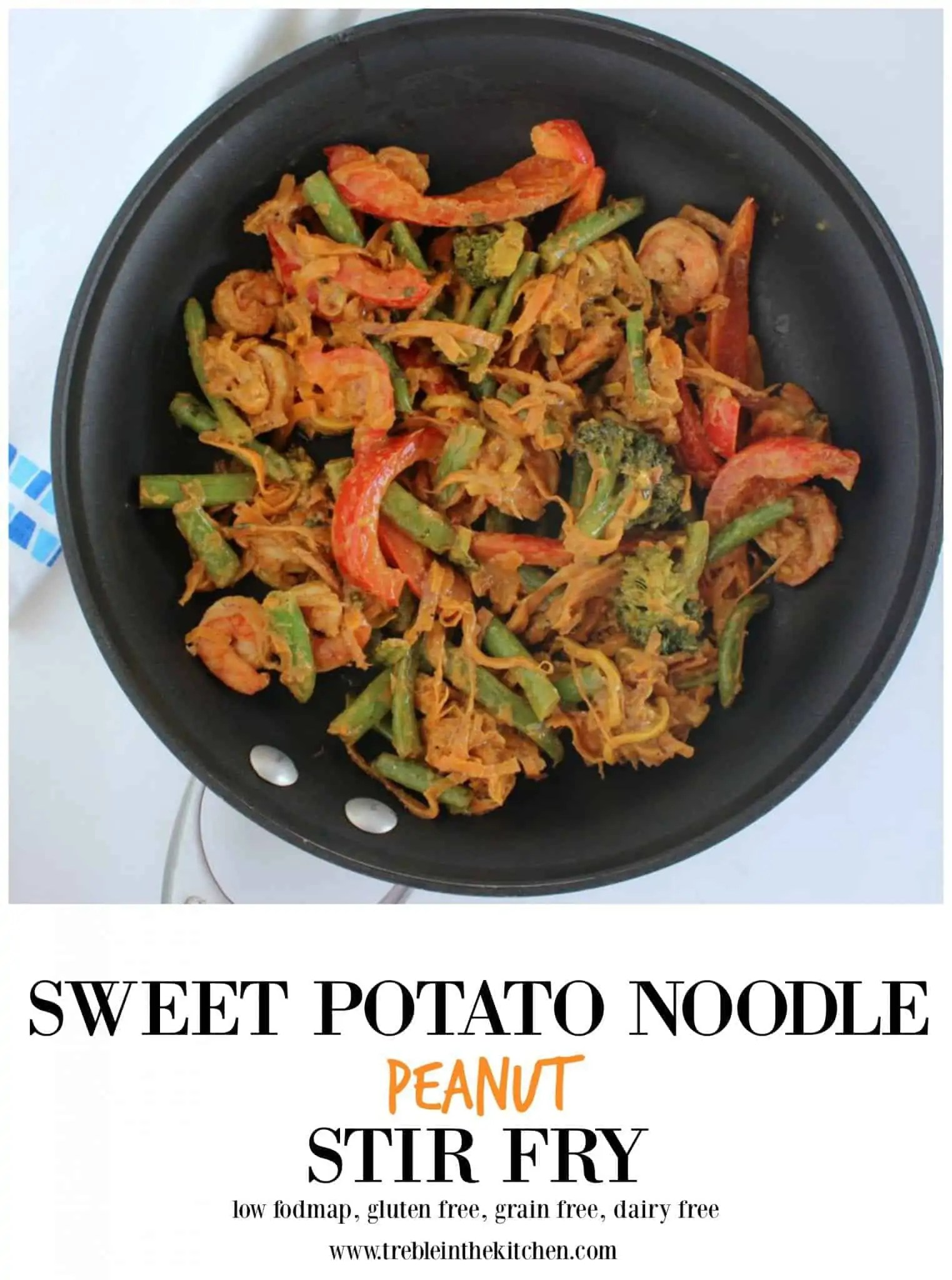 Sweet Potato Noodle Peanut Stir Fry from Treble in the Kitchen