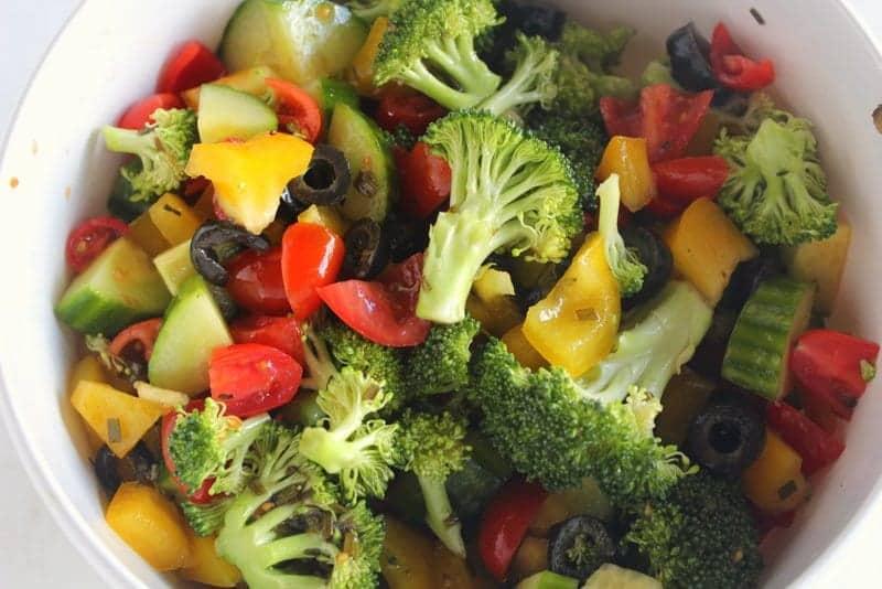 Zesty Chopped Italian Salad