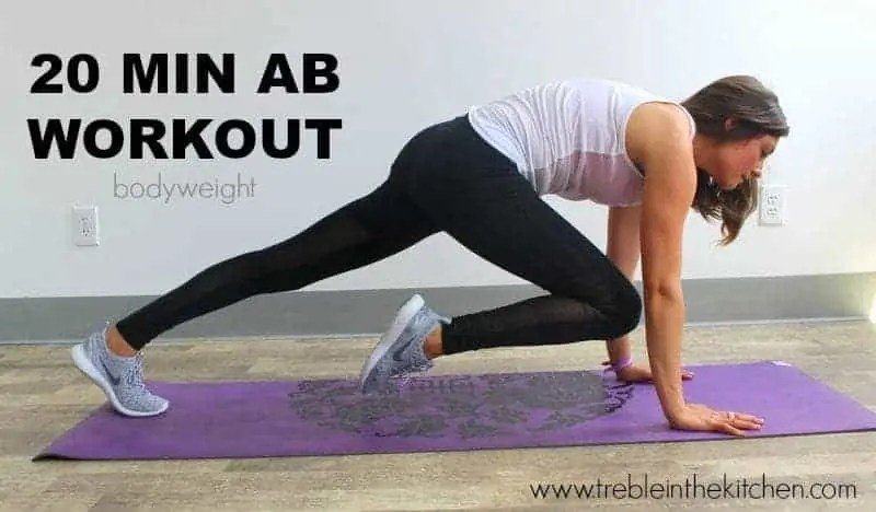 20 MIN AB WORKOUT from Treble in the Kitchen