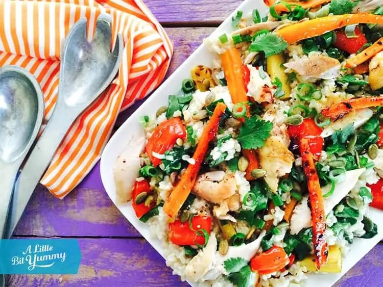 Low FODMAP Brown Rice & Chicken Salad