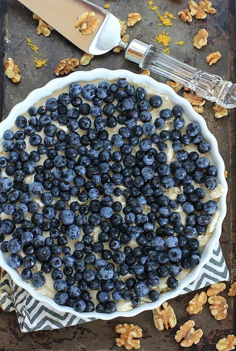 no bake blueberry lemon ice cream pie with walnut crust by ea stewart