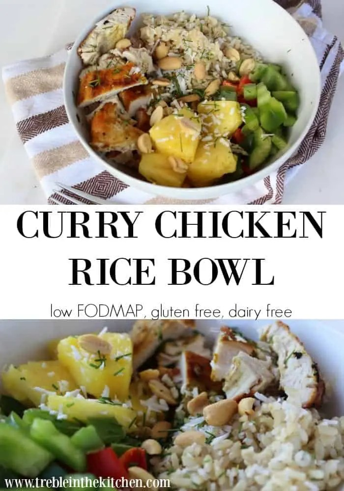 low FODMAP Curry Chicken Bowl from Treble in the Kitchen