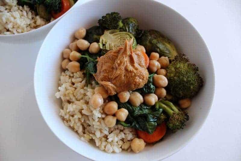 Roasted Veggie and Rice Bowl #Vegan #lowFODMAP #glutenfree