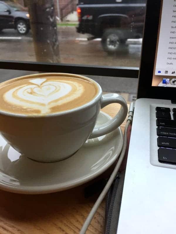 Almond milk latte