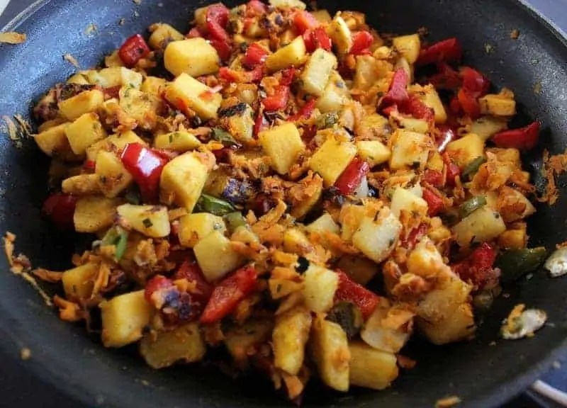 Plantain Root Vegetable Hash Low FODMAP, gluten free, grain free, paleo friendly, dairy free