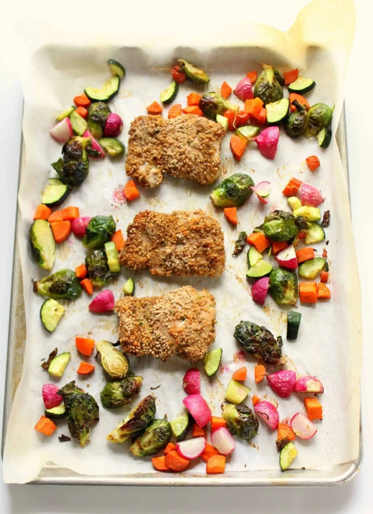 Quinoa Crusted Chicken - low FODMAP, gluten free, dairy free