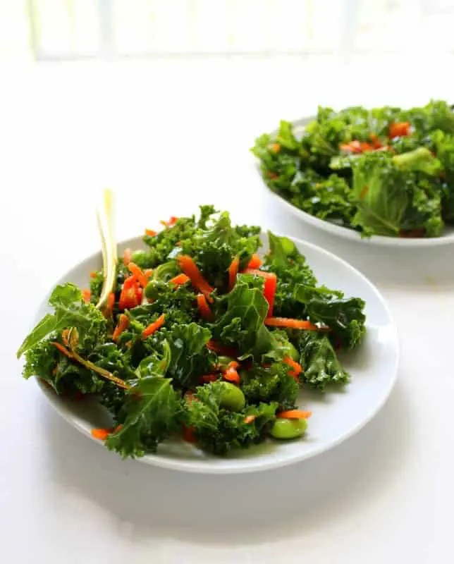 Asian Kale Salad - low FODMAP, gluten free, grain free, dairy free, vegan