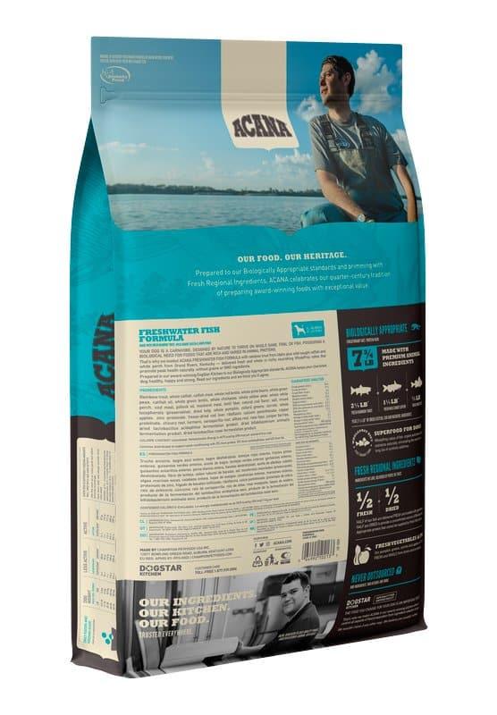 Acana Freshwater Fish back of bag