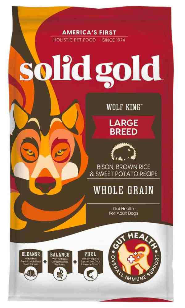Solid Gold Wolf King front of bag