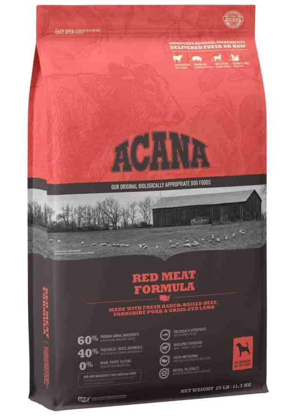 Acana Red Meat Formula front of bag