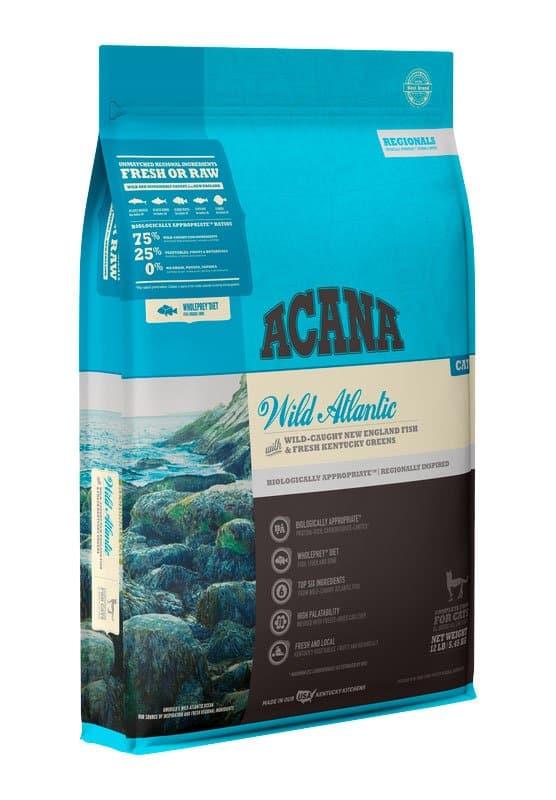 Acana Wild Atlantic cat food front of bag
