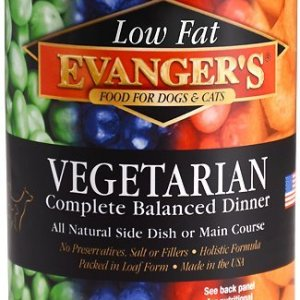 Evanger's vegetarian front of can