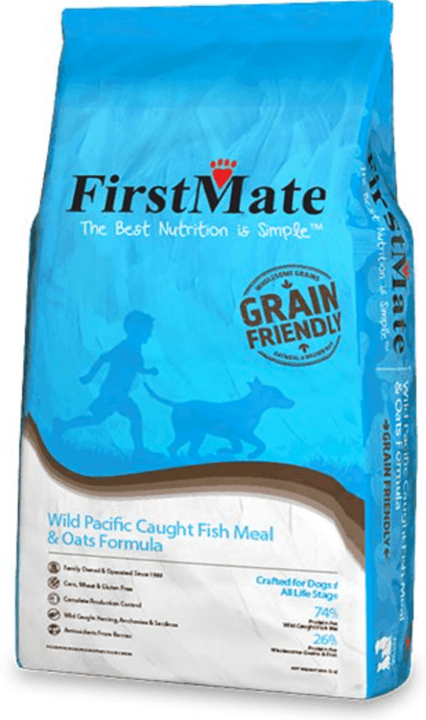 FirstMate Fish and Oats Front of Bag