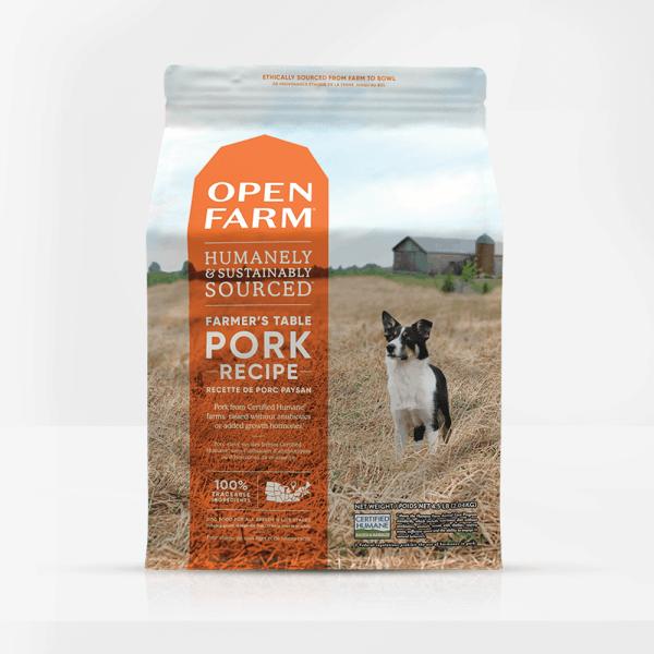 Open Farm Pork Dog Food Front of Bag