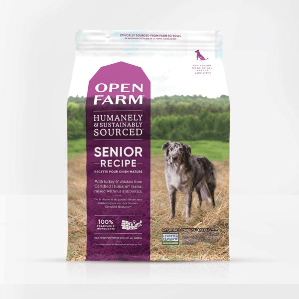 Open Farm Senior Dog Front of Bag