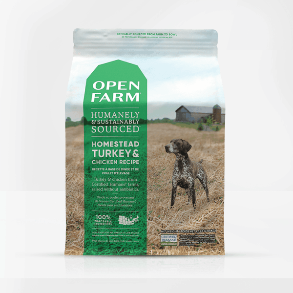 Open Farm Turkey Dog Food Front of Bag