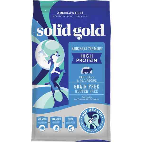 Solid Gold Barking at the Moon Front of Bag