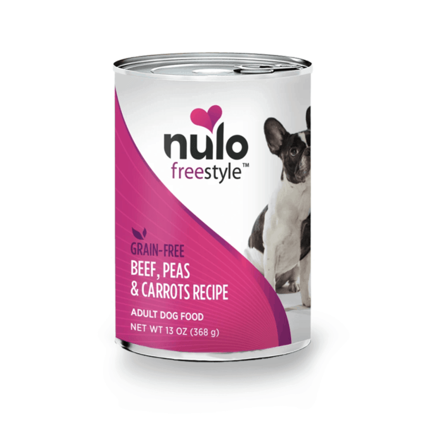 Nulo beef peas carrots 13oz canned dog food