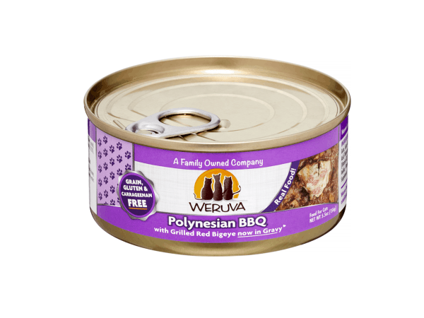 Weruva polynesian bbq 5.5oz canned cat food