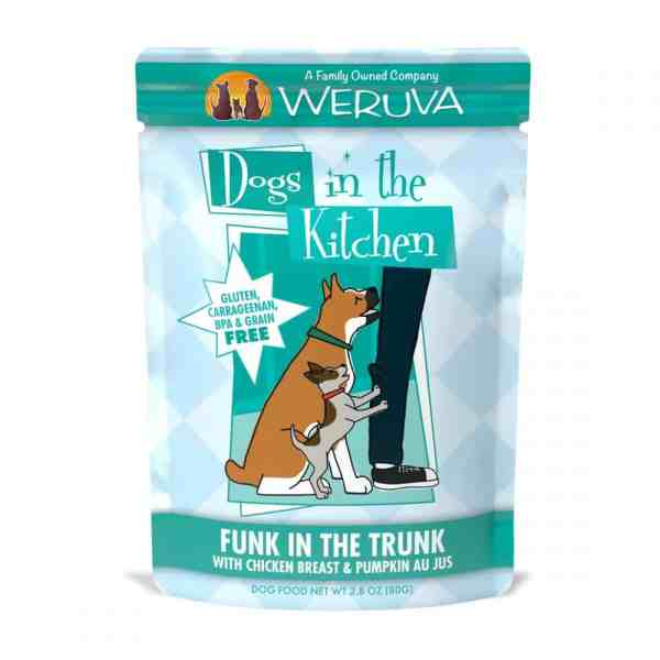 Weruva funk in the trunk 2.8oz pouch wet dog food