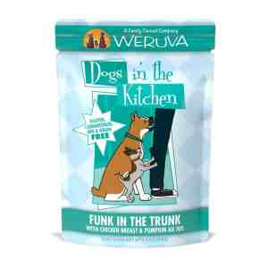 Weruva funk in the trunk 2.8oz pouch wet dog food