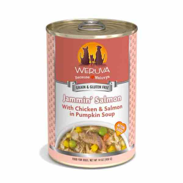 Weruva jammin salmon 14oz canned dog food
