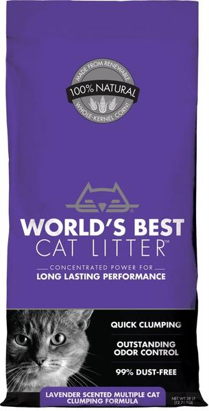 Worlds best lavender cat litter
