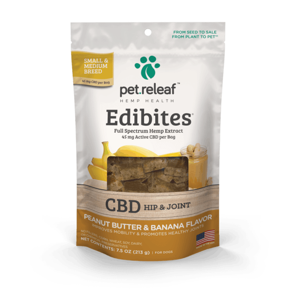 Pet Releaf Edibites Small Breed peanut butter banana