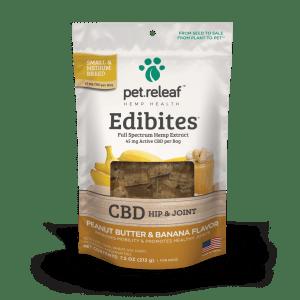 Pet Releaf Edibites Small Breed peanut butter banana