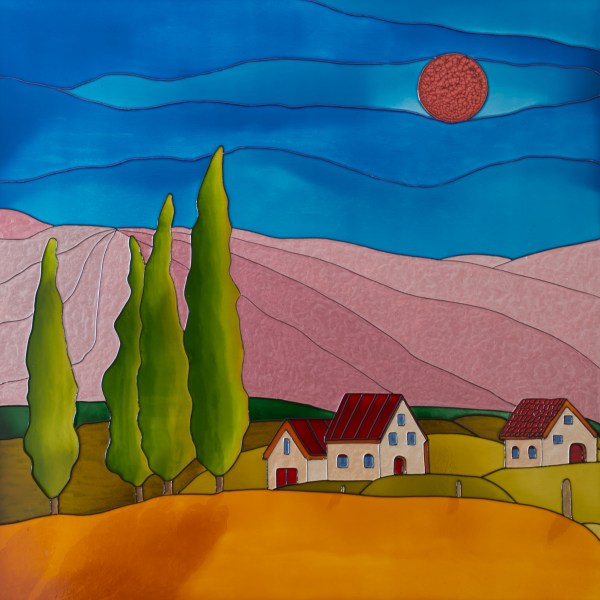Red Tuscany Moon - Colorist Art - Daydreaming Collection 3-1-8 #3