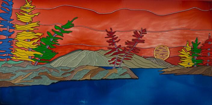 Devil's Mountain #2 - Montagne du diable #2 - 20 in. x 40 in. x 1.5 in. - 51 cm x 102 cm x 4 cm