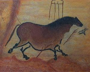 Second Chinese Horse II - Second cheval chinois II - Grotte Lascaux - 36 in x 48 in x 1.5 - 92 cm x 122 cm x 4 cm