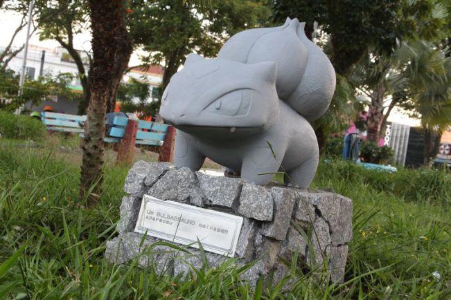 Pokémon GO   Estátua de Bulbasaur aparece misteriosamente em praça brasileira