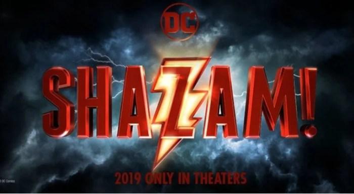 Shazam!   Logotipo oficial do filme é revelado. Confira