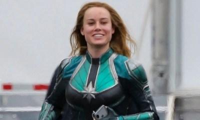 Capitã Marvel | Brie Larson celebra fim das filmagens com foto comemorativa