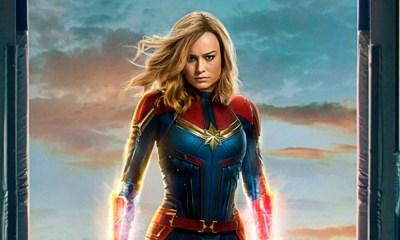 Capitã Marvel | Primeiro poster oficial surge com easter egg de Chewie. Confira