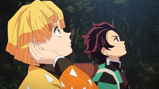 Cenas do episódio 11 de Demon Slayer.