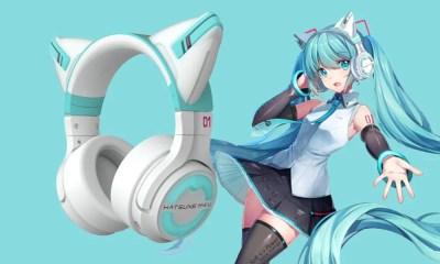 YOWU lança headphone da Hatsune Miku com orelhas de gato