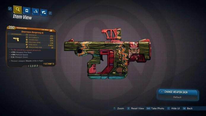 Pistola, rifle, bumerangue, tem de tudo em Borderlands 3